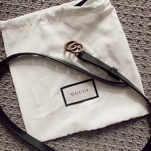 Gucci skinny belt
